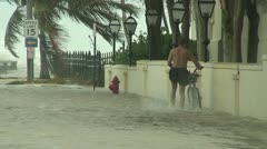 Hurricane flooding and wind Stock Footage