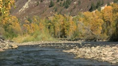 Mountain River Landscape in Fall - stock footage