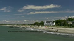 Seaside Resort Heiligendamm in Mecklenburg - Baltic Sea, Northern Germany Stock Footage