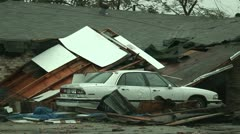 Hurricane aftermath Stock Footage