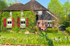 traditional dutch house - stock photo