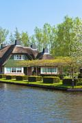 traditional dutch houses - stock photo