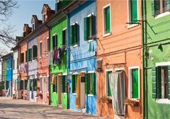 burano's colored houses - stock photo