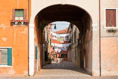 Stock Photo of venetian yard