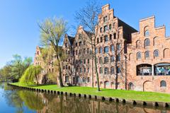 architecture in lübeck, germany. - stock photo