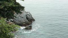 Rocky shore Mexico Pacific Ocean HD 4039 Stock Footage
