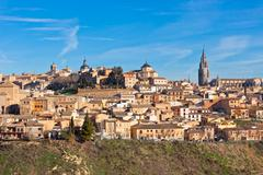 old toledo town, spain - stock photo