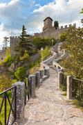 san marino - guaita or rocca, the first tower - stock photo