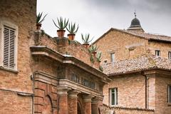 botanical garden in urbino, italy - stock photo