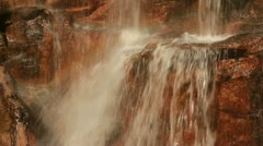 Waterfall Splashing on Rocks Stock Footage