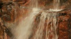 Waterfall Splashing on Rocks - stock footage