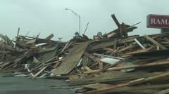 Hurricane Ike aftermath Galveston Texas Stock Footage