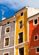 Vanha väri talojen julkisivut Kuvituskuvat