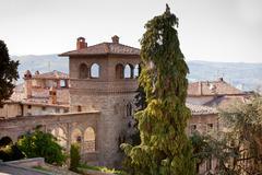 todi, town in umbria, italy - stock photo