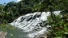 Waterfall tropical jungle Stock Footage
