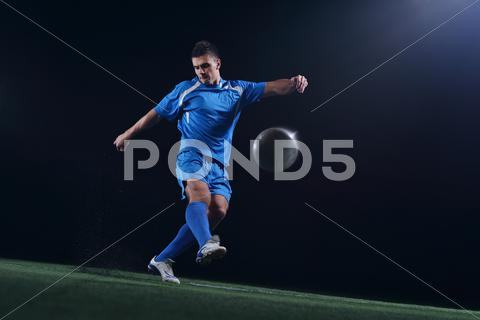 Stock photo of soccer player