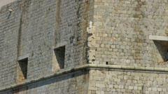 Ancient stone statue of Dubrovnik patron St. Blasius - stock footage