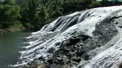 Waterfall Tropical Island Stock Footage