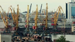 Trading port activity timelapse Stock Footage