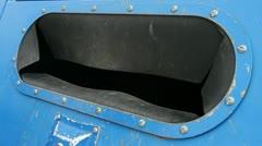 Metal can recycling bin Stock Footage