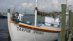 Tarpon Springs Sponge Boat Stock Footage