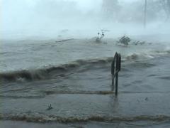 Hurricane Katrina Storm Surge Wave Stock Footage
