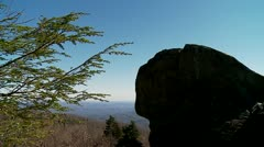 Mountain Rock & Blue Sky Stock Footage