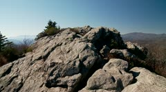 On the Rocks-Blue Ridge Mountains Stock Footage