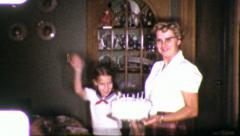 IT'S MY BIRTHDAY! Girl Birthday Party 1960 Vintage Film Home Movie 5802 - stock footage