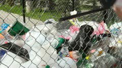 Plastic recycling - stock footage