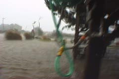 Hurricane Conditions Flooding - stock footage