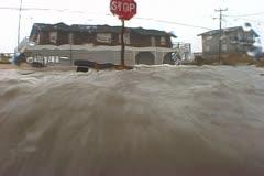 Dangerous Hurricane Storm Surge Flooding Stock Footage