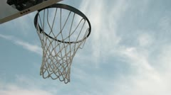 Businessman Tries to Dunk Basketball - stock footage