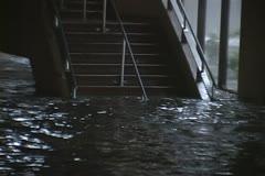 Hurricane Katrina storm surge flooding - stock footage