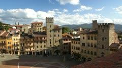 The Piazza Grande, Arezzo Stock Footage