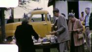FARMERS CHURCH SOCIAL Western Picnic 1950 (Vintage Old Film Home Movie) 5805 Stock Footage