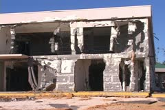 Hurricane Katrina aftermath Destroyed Building - stock footage