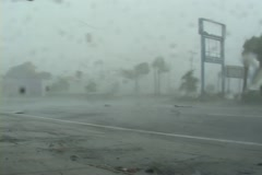 Category 4 Hurricane Extreme Wind Stock Footage