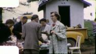 Stock Video Footage of CHURCH SOCIAL FAMILY REUNION Picnic 1960 (Vintage Old Film Home Movie) 5807