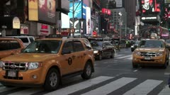 Times Square Traffic at Dusk Stock Footage