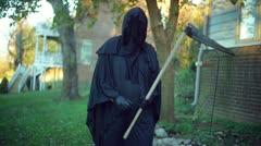 Grim reaper standing Stock Footage