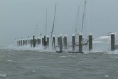 Hurricane Frances comes ashore near Fort Pierce, Florida Stock Footage