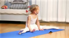 Ballerina. Little ballet children dancer Stock Footage