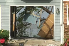 Hurricane Ivan aftermath destroyed homes - stock footage