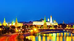 Moscow city on sunset. Russia Stock Footage