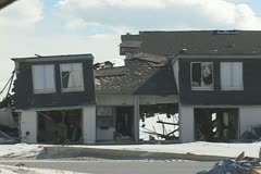 Hurricane beach homes destroyed  - stock footage