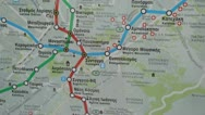 Athens city views - subway map Stock Footage