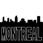 Montreal skyline black silhouette on white illustration Stock Illustration