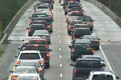 Hurricane Katrina Traffic Jam Stock Footage