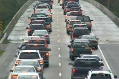 Hurricane Katrina Traffic Jam - stock footage